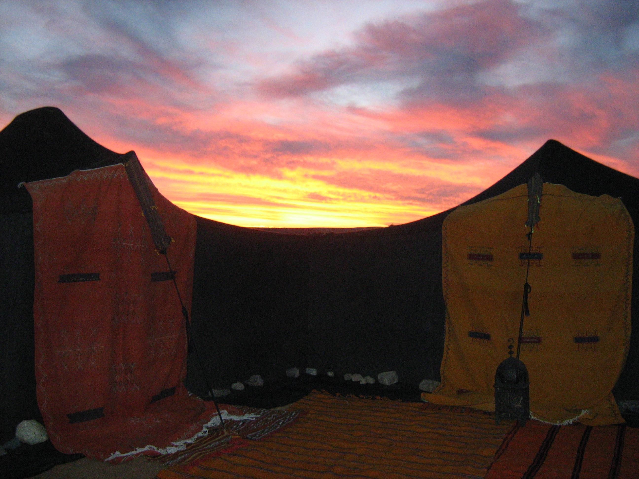 camp at sunset, tissardmine