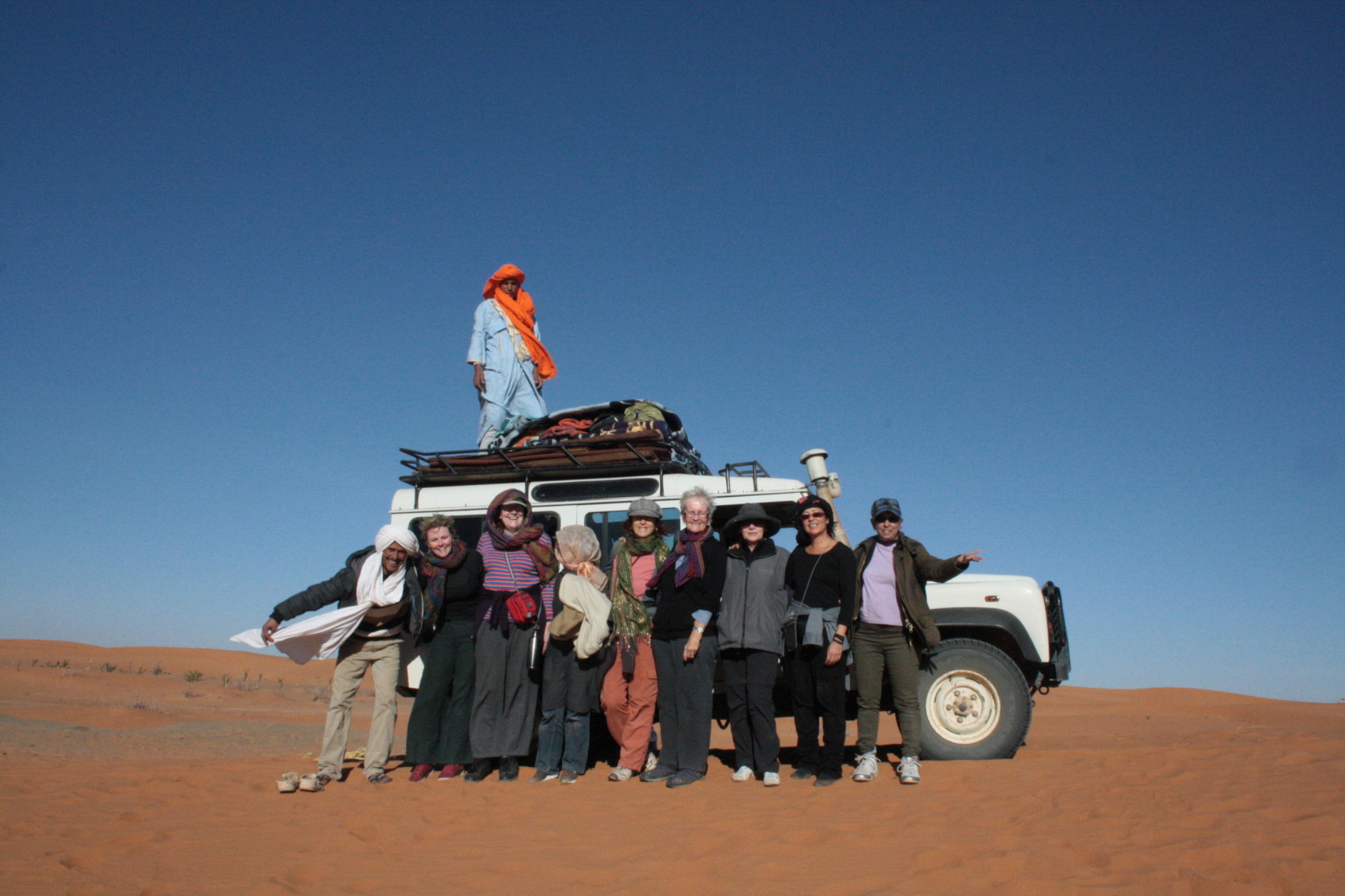 the gang heads off (camels are just to the left…)